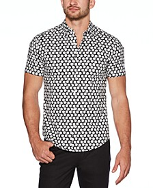 Men's Regular-Fit Stretch Dice-Print Shirt