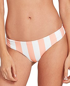 Juniors' Coco Printed Cheeky-Fit Bikini Bottoms