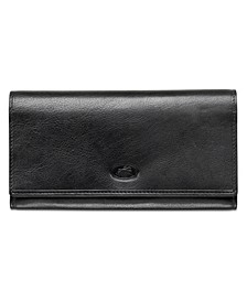 Equestrian-2 Collection RFID Secure Trifold Checkbook Wallet