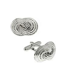 Jewelry Silver-Tone Infinity Knot Cufflinks
