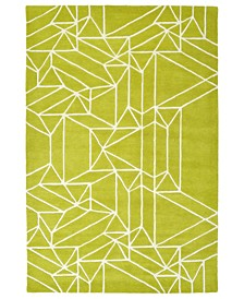 Origami ORG04-96 Lime Green 2' x 3' Area Rug