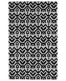 "Lakota LKT07-02 Black 3'6"" x 5'6"" Area Rug"