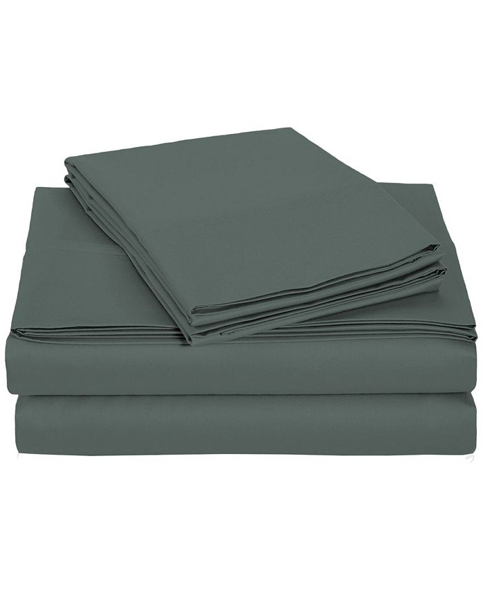 Universal Home Fashions - University 6 pc Gray Solid Queen Sheet Set