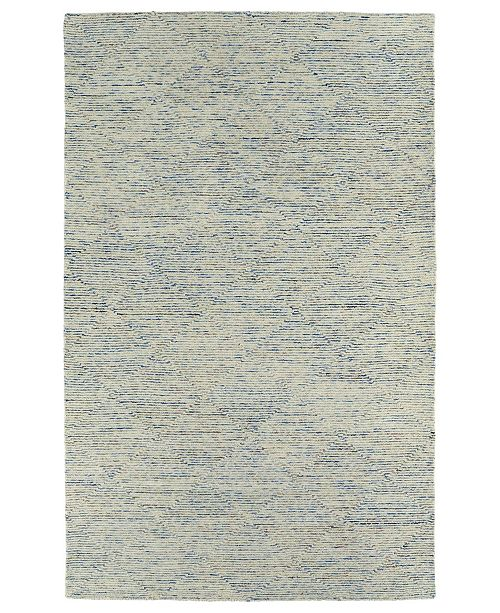 "Kaleen Evanesce ESE01-17 Blue 3'6"" x 5'6"" Area Rug"