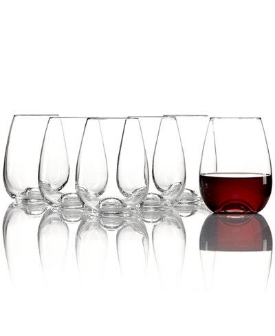 Lenox Tuscany Stemless Wine Glasses 6 Piece Value Set All Glassware Drinkware Dining