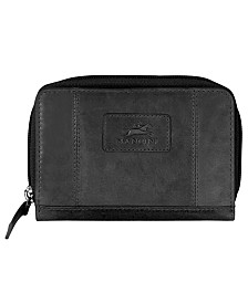 Mancini Casablanca Collection RFID Secure Small Clutch Wallet