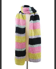 Bright Knit Striped Scarf