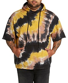 MVP Collections Men's Big & Tall Tie-Dye Short Sleeve Pullover Hoodie