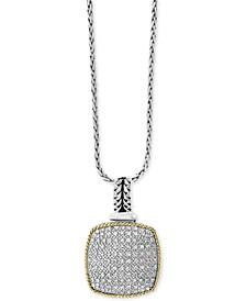"EFFY® Diamond Circular 18"" Pendant Necklace (1/3 ct. t.w.) in Sterling Silver and 18k Gold"