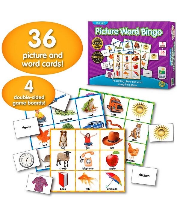 The Learning Journey Match It Bingo- Picture Word
