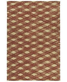 Tulum Jute TUL02-30 Rust 3' x 5' Area Rug