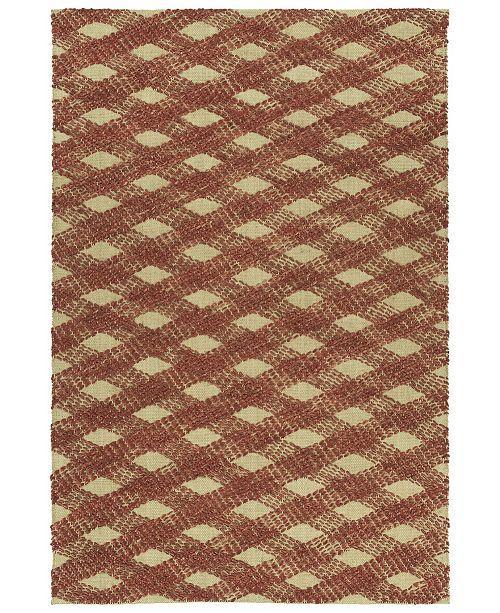 Kaleen Tulum Jute TUL02-30 Rust 3' x 5' Area Rug