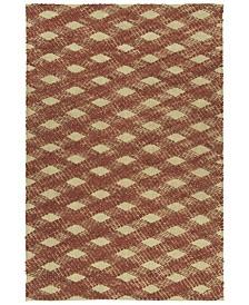 Kaleen Tulum Jute TUL02-30 Rust 7'6 x 9' Area Rug