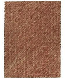 Tulum Jute TUL01-30 Rust 3' x 5' Area Rug