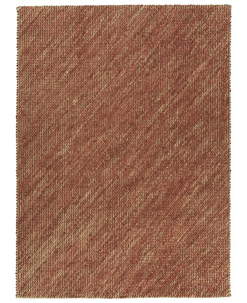 Kaleen Tulum Jute TUL01-30 Rust 3' x 5' Area Rug