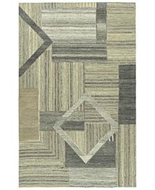 "Alzada ALZ04-49 Brown 5' x 7'9"" Area Rug"