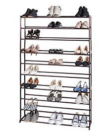 Free-Standing 50 Pair Shoe Rack