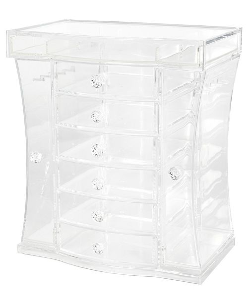 Richards Homewares Clearly Chic Extra Large Jewelry Organizer With Side Doors Reviews Cleaning Organization Home Macy S