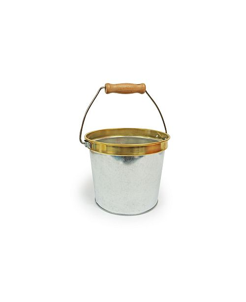 Casa Bellante Galvanized Bucket with Copper Ring