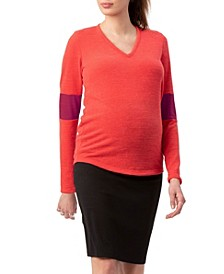 Stowaway Collection Elbow Cuff Maternity Sweater