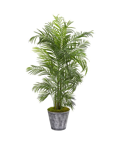 """Nearly Natural 63"""" Areca Palm Artificial Tree in Decorative Planter UV Resistant Indoor/Outdoor"""