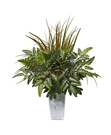 "25"" Mix Greens Artificial Plant in Planter"