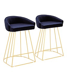 Canary Upholstered Counter Stool, Set of 2
