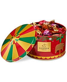 Holiday Carousel G Cube Chocolate Truffle Tin, 30 Piece Set