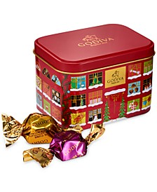 Holiday G Cube Truffles Chocolate Gift Box, 15 Piece Set