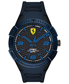 Ferrari Men's Apex Blue Silicone Strap Watch 44mm