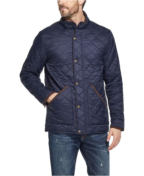Weatherproof Vintage Men's Diamond Quilted Jacket, Created For Macy's