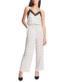 Lace-Trimmed Camisole Jumpsuit