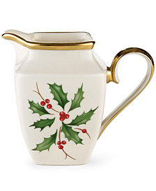 Lenox Dinnerware, Holiday Square Creamer