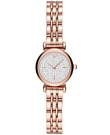 Women's Starry Night Rose Gold-Tone Stainless Steel Bracelet Watch 22mm