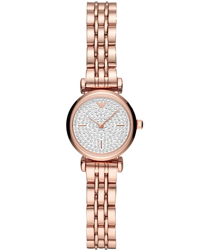 Emporio Armani - Women's Starry Night Rose Gold-Tone Stainless Steel Bracelet Watch 22mm