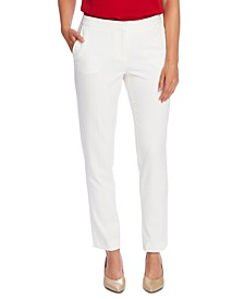 Textured Slim-Leg Ankle Pants
