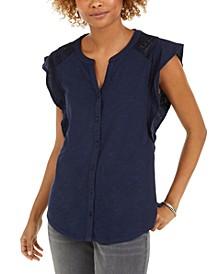 Eyelet Sleeveless Shirt, Created for Macy's