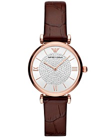 Women's Starry Night Burgundy Leather Strap Watch 32mm