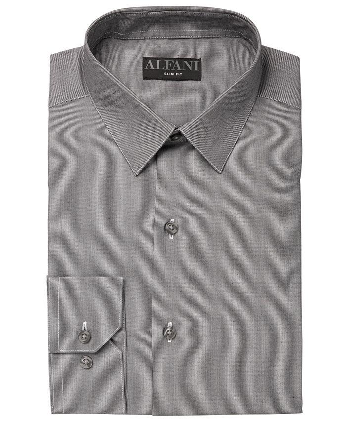 Alfani - Men's AlfaTech Modern Hairline Dress Shirt