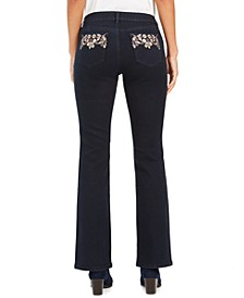 Embroidered-Pocket Bootcut Jeans, Created For Macy's