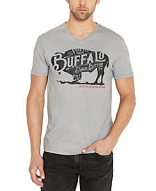 Buffalo David Bitton Men's Tistor Logo Graphic V-Neck T-Shirt