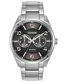 Eco-Drive Men's Corso Stainless Steel Bracelet Watch 42mm