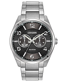 Citizen Eco-Drive Men's Corso Stainless Steel Bracelet Watch 42mm