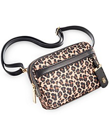 Julia Leopard Nylon Belt Bag