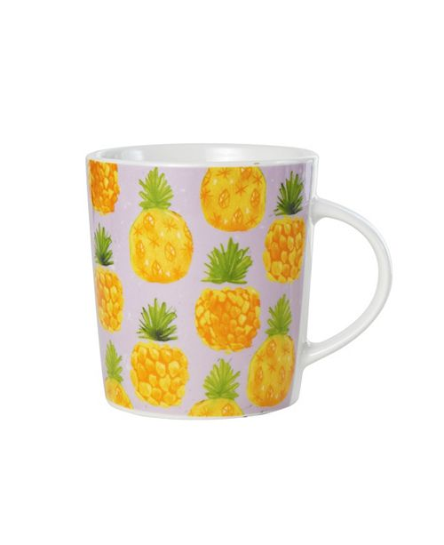 Pfaltzgraff Pineapple Print Mug
