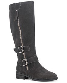 Collins Leather Buckled Boots, Created for Macy's