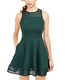 Juniors' Illusion Fit & Flare Dress