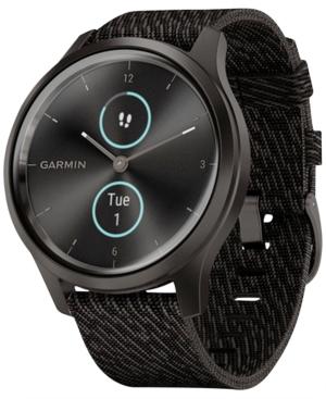 Unisex Vivomove 3 Style Black Nylon Strap Smart Watch 24.1mm
