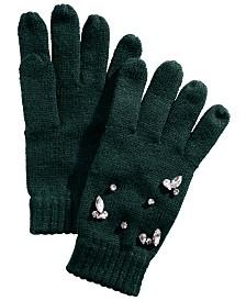 I.N.C. Gemstone-Embellished Gloves, Created for Macy's
