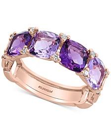 EFFY® Amethyst (3-1/2 ct. t.w.) & Diamond (1/10 ct. t.w.) Ring in 14K Rose Gold